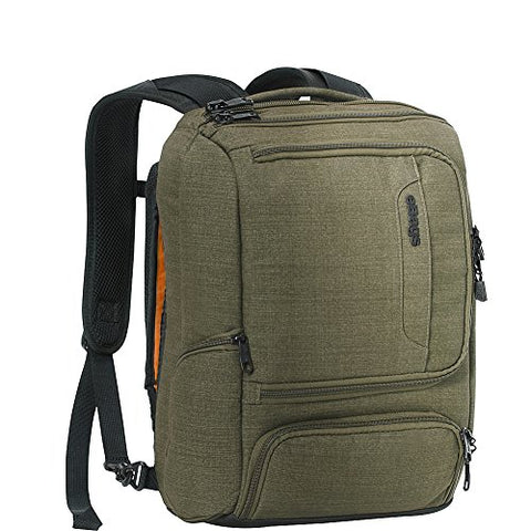 "eBags Professional Slim Junior Laptop Backpack for Travel, School & Business - Fits 15.75"" Laptop - Anti-Theft - (Sage Green)"