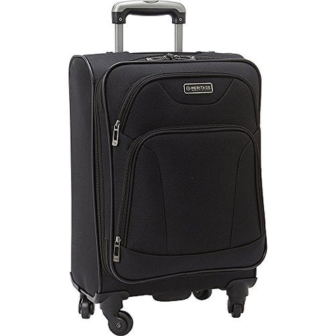 "Heritage Wicker Park 20"" Carry-On Suitcase, Black"