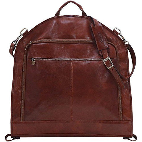 Floto Collection Brown Leather Garment Suit Bag