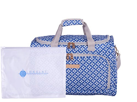 "Jenni Chan Colima 2-Piece Set 17"" 311Bag Duffel Bag, Blue, One Size"
