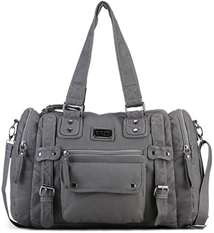 Scarleton Soft Barrel Shoulder Bag H148524 - Ash