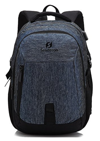 Scarleton Simple Water Resistant Backpack H20420701 - Blue/Black