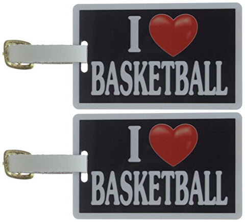 Tag Crazy I Heart Basketball Two Pack, Black/White/Red, One Size