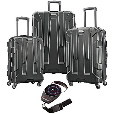Samsonite Centric 3Pc Nested Luggage Set Black With Portable Luggage Scale