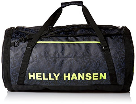 Helly Hansen Duffel 2 Water Resistant Packable Bag with Optional Backpack Straps, 90-liter (Large), 993 Black / Print