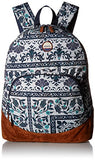 Roxy Women's Fairness Backpack, Dress Blues Square Flower