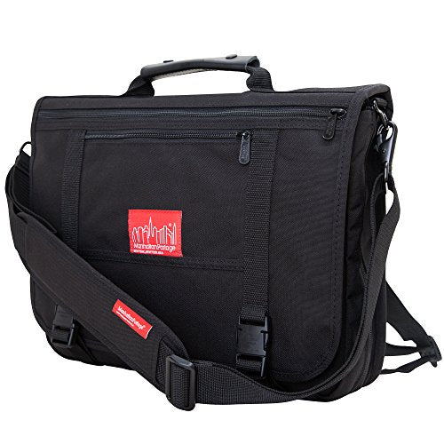 Manhattan Portage Wallstreeter W Back Zipper, Black, One Size