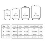 """Dofover"" Luggage Cover Protective Polyester Spandex Fashion suitcase Cover with Zipper for"
