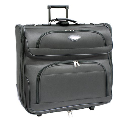 Travel Select  Amsterdam Rolling Garment Bag Wheeled Luggage Case - Gray (23-Inch)
