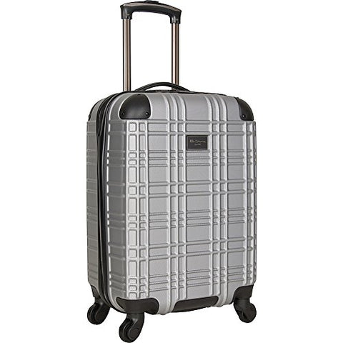 "Ben Sherman Luggage Nottingham 20"" Embossed PAP 4-Wheel Carry-On (Light Silver)"