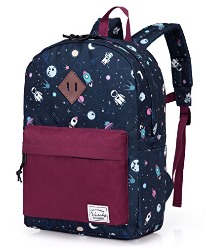 Preschool Toddler Backpack,Vaschy Little Kid Small Backpacks for Nursery School Children Boys and Girls with Chest Strap in Cute Astronaut
