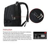CrossGear Laptop Backpack with Combination Lock- Fits Most 15.6 Inch Laptops and Tablets CR-9001BK