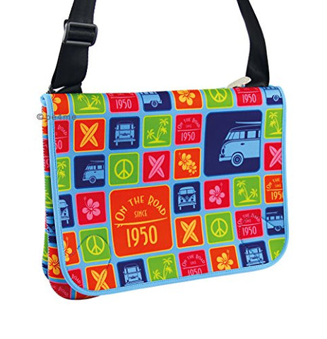 Vw Collection By Brisa Vw Bus Neoprene Messenger Bag - Multicolor