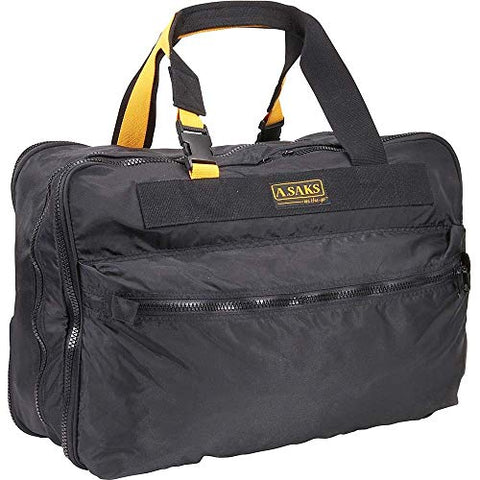 A.Saks Expandable 21in. Nylon Carry-On in Black