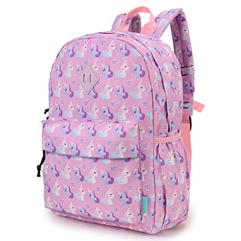 Unicorn Backpack for Girls Kids Backpack Toddler Backpack for Kindergarten Cute Preschool Backpack with Front Chest Buckle, Pink Unicorns VONXURY