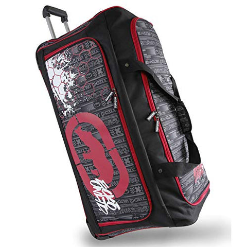 "Ecko Unltd. Men's Tagger Large 32"" Rolling Duffel Bag, Black/Red, One Size"