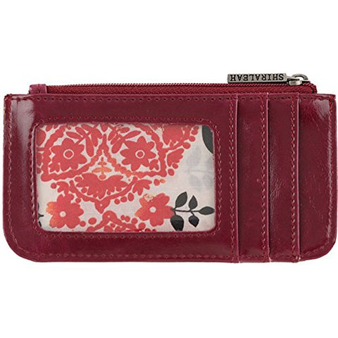 Shiraleah Harper Card Case, Berry