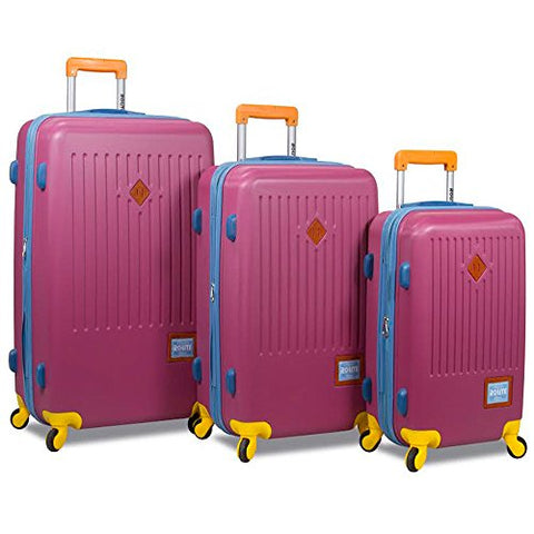 Rolite Mod Hardside 3-Piece Spinner Expandable Luggage Set - Burgundy