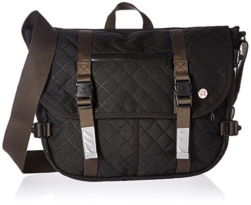 Token Bags Quilted Lorimer Lite Messenger Bag, Black, One Size