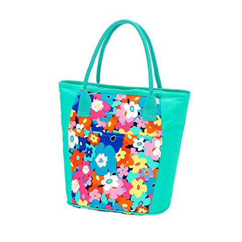 "2017 High Fashion Print Beach Cooler 13"" L X 6.5"" W X 11"" H (Poppy Punch)"