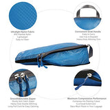 BAGAIL 6 Set Ultralight Packing Cubes Expandable Travel Packing Organizers Blue(2M+2S+2Slim)
