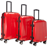 The Set of Classic Red A719 Exp 3pc Luggage Set