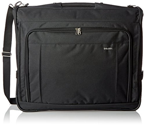 Delsey Luggage Helium Garment Bag, Deluxe Suit Or Dress Bag, Includes Carry Handle, Black