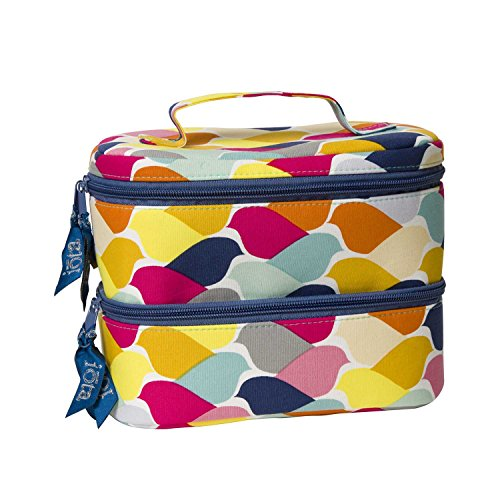C.R. Gibson Flock of Color Medium Cosmetic Case