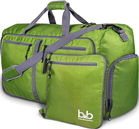 Extra Large Duffle Bag with Pockets - Travel Duffel Bag for Women and Men (Dark Green)