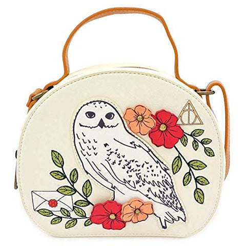 Loungefly Harry Potter Hedwig Floral Crossbody Bag Purse - HPTB0061