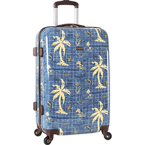 Tommy Bahama Carry On Hardside Luggage Spinner Suitcase, Navy Map Print