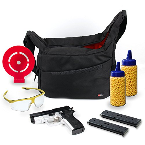 Duragadget Bb Gun Carry / Storage Bag Nylon Shoulder Bag In Black & Orange With Customizable