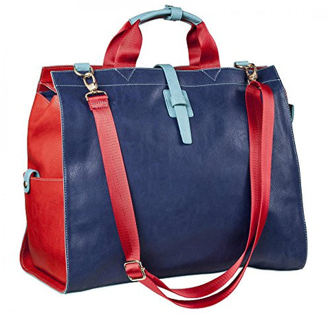 Sydney Love Navy And Red Overnight Bag