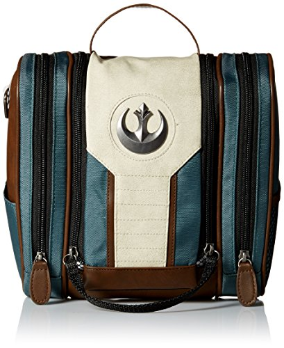 Bioworld Men's Star Wars Rogue One Rebel Dopp Travel Kit, Brown