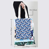 Ocean canvas messenger bag Sealife Sketchy Swirl Like Hand Drawn Waves and Boat Image canvas