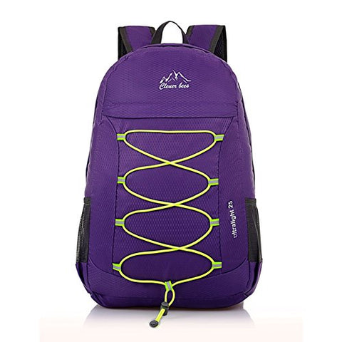 Packable Handy Lightweight Foldable Back Pack Outdoor Travel Carry On Daypack Backpack (Purple)