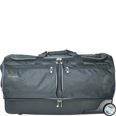 "Ecogear 28"" Wheeled Duffel With Garment Rack (Black)"