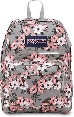 JanSport Unisex Digibreak Coral Sparkle Pretty Posey One Size