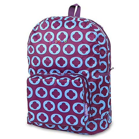 J World New York Women's Buena Folding Backpack, J Logo, One Size