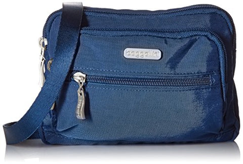 Baggallini Triple Zip Bag –Removable, Adjustable Strap Can Switch From Crossbody Bag To Wallet