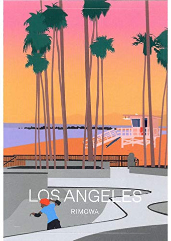 "RIMOWA Los Angeles sticker for Topas, Original, Salsa, Essential series for luggage and carry on""Made in Germany"""