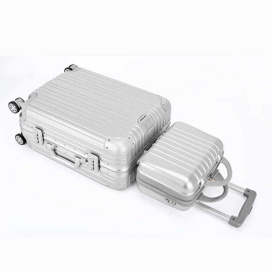Boarding Suitcase, Trolley Case Universal Wheel Aluminum Frame Suitcase, Retro Luggage 20 Inch Boarding Case, 24 inches