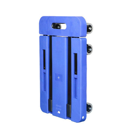 Flat-Panel Trolley Folding Portable Household Flat-Bed Trolley Luggage Trolley-Handling Pull Cargo Trailer, Blue