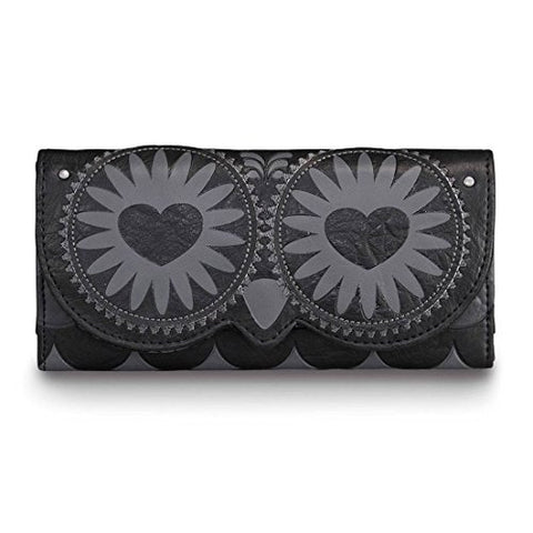 Loungefly Black Owl with Heart Eyes Face Wallet