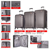 DUKAP Luggage Intely Smart Hardside 3 piece set 20''/28''/32'' with USB and integrated weight scale