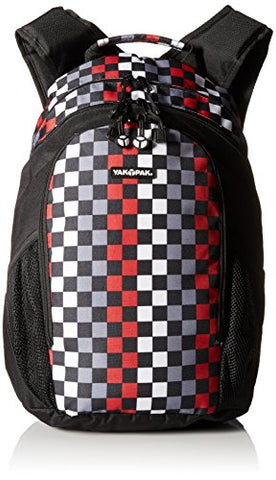 Yak Pak Metro Back Pack, Checkerboard Red, One Size