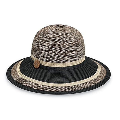Wallaroo Women'S Nola Sun Hat - 100% Paper Braid - Upf 50+, Black