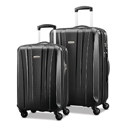 "Samsonite Pulse Dlx Lightweight 2 Piece Hardside Set (20""/24""), Black, Exclusive to Amazon"