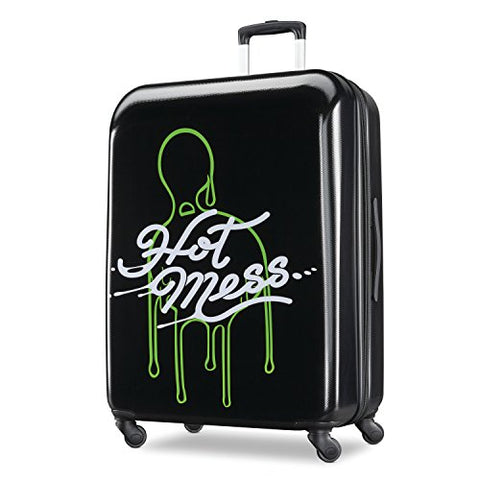 American Tourister Kids' Nickelodeon Slime Hardside Spinner 21, Black/Green