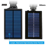 AMIR Solar Spotlights Outdoor Upgraded, Waterproof 4 LED Solar Security Landscape Lights,